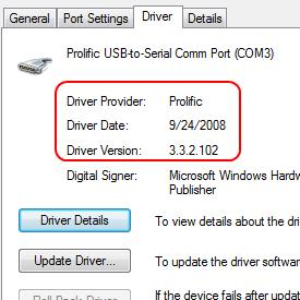 USB A Male to DB9 Male - Download Windows 7 Driver Here