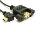 Ultra-Thin USB 2.0 Extension Cable (A to Left Angle Mini-B)